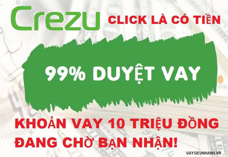 Crezu - Dịch vụ miễn phí lựa chọn khoản vay tức thời